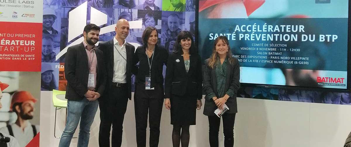 3 nouvelles start-up intègrent l'accélérateur Santé - Prévention dans le BTP