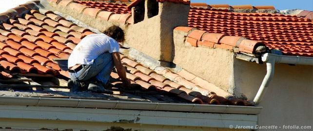 Artisan sur toit