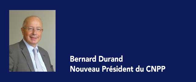 Bernard Durand est le nouveau président de CNPP