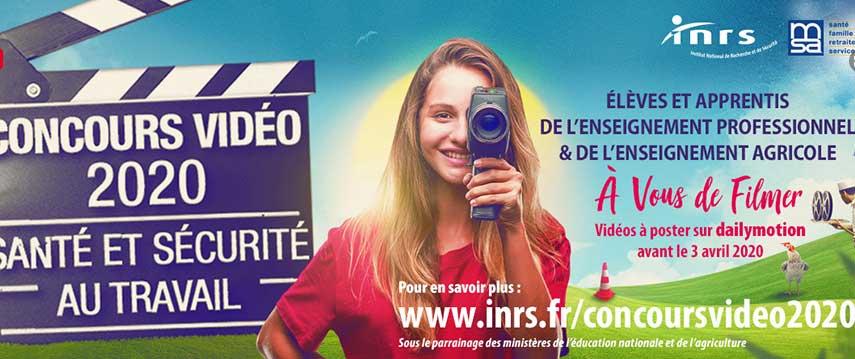 Concours vidéo santé et sécurité 2020 : à vos caméras !