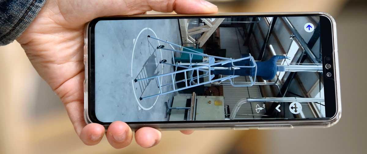 Une application en réalité augmentée pour choisir son matériel de travail en hauteur