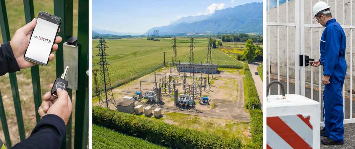 contrôle d'accès poste électrique