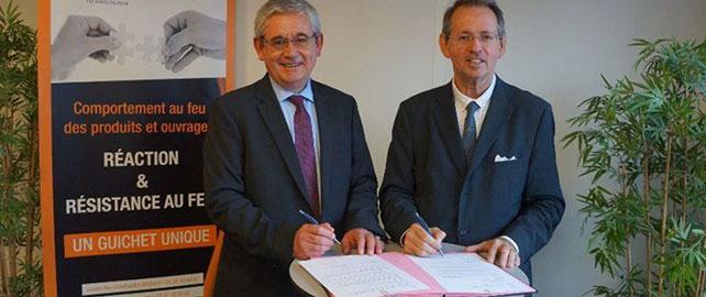 Le CERIB et le FCBA concluent un partenariat dans le domaine de la sécurité incendie
