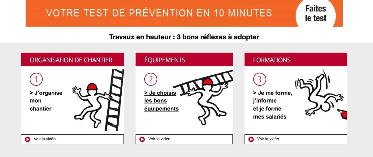 Evaluez vos pratiques sur la prévention des chutes de hauteur