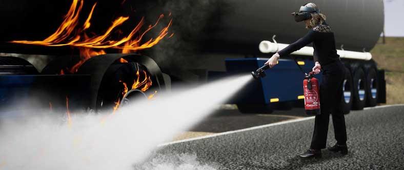 simulateur formation incendie extincteurs