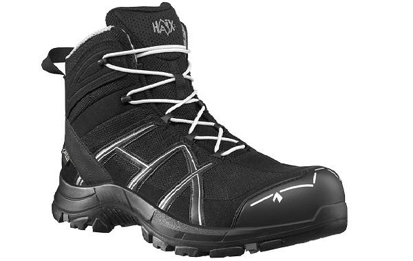 Chaussures de sécurite - Haix Black Eagle Safety 40 Mid Black/Silver