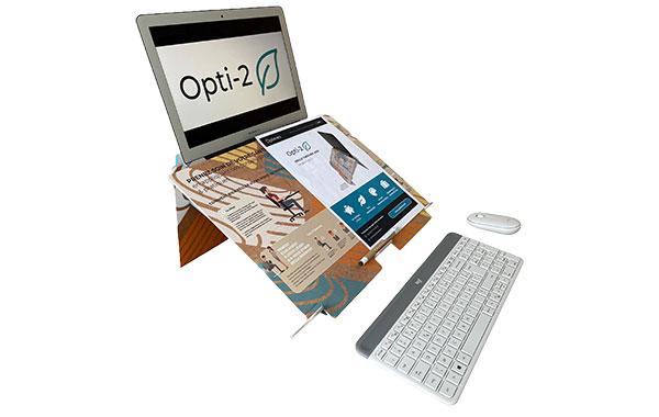 Opti-2, le rehausseur d'ordinateur portable ergonomique