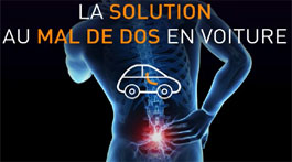 La solution au mal de dos en voiture