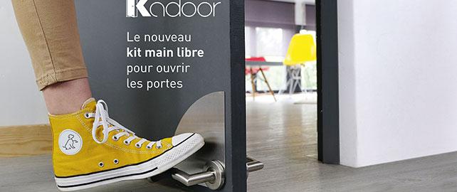 Beaurain Distribution présente Kadoor, la poignée de porte au pied