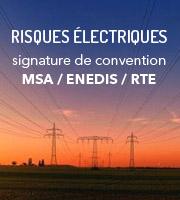 Risques électriques: signature de convention
